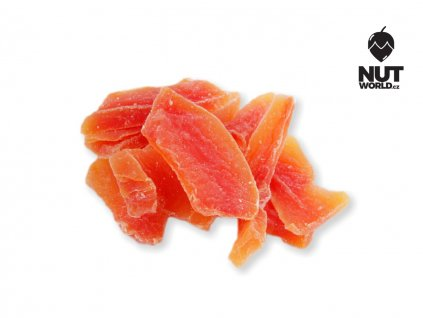 papaya plátky bez přidaného cukru a SO2