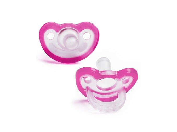 Dudlík JollyPop Newborn Pink