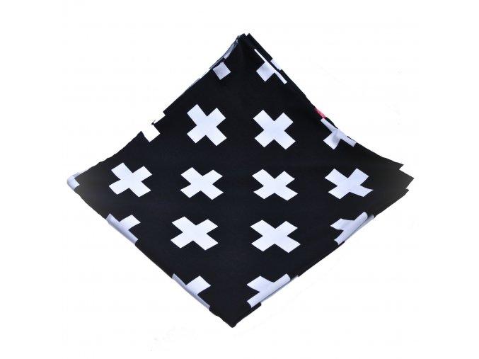 Kojící šátek černá bílá