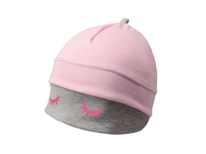 Dětská spací čepice - růžová