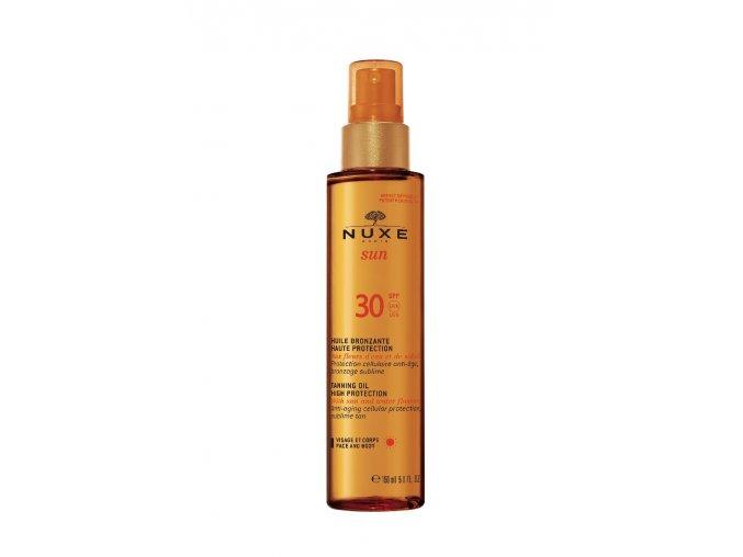 Nuxe Sun - Bronzující olej s vysokou ochranou SPF 30 150 ml | www.Nuxe-kosmetika.cz