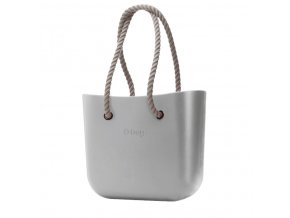 O BAG SATIN SILVER S PROVAZEM NATURAL