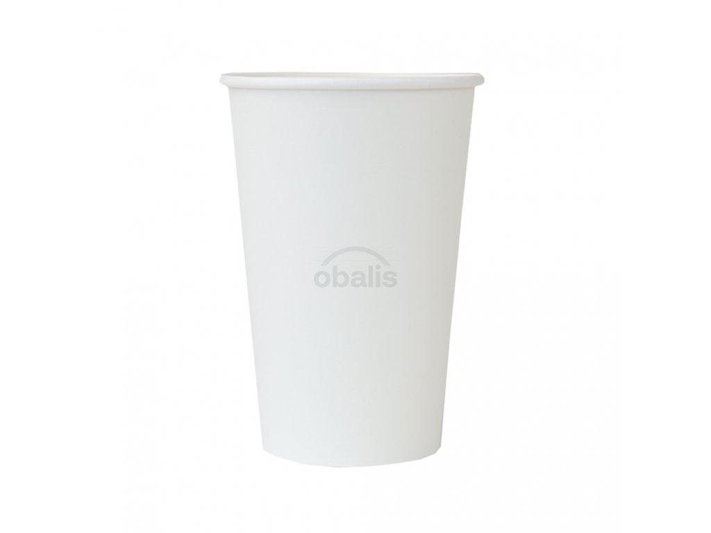 Papírový kelímek na teplé nápoje 450ml bílý ø 9 cm