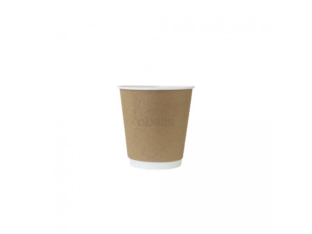Papírový kelímek na teplé nápoje hnědý 120ml ø 6.2 cm