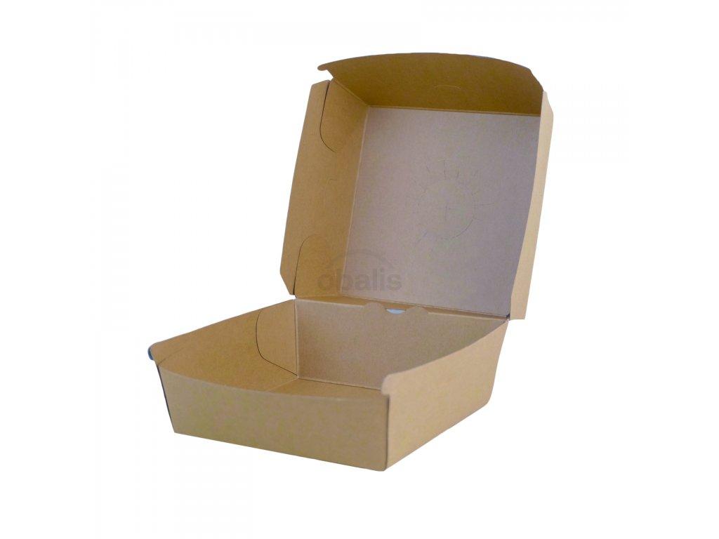 Burger box hnědý 135x135x100 mm