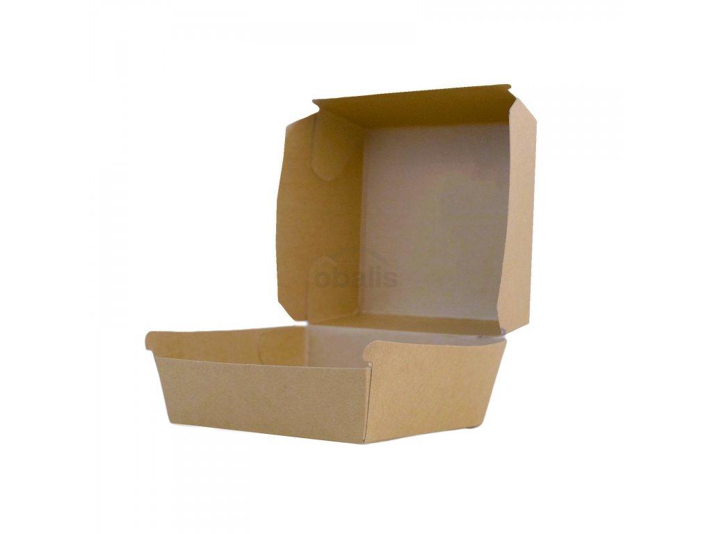 Burger box hnědý 110x110x90 mm
