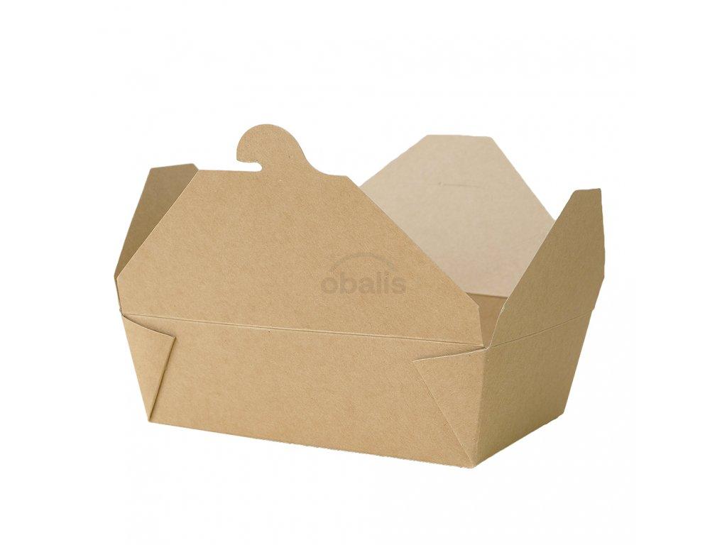 Menu box kraft 1800 ml 195x140x65 mm