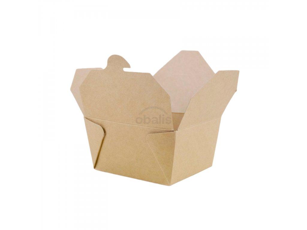 Menu box hnědý 700ml 110x95x65 mm