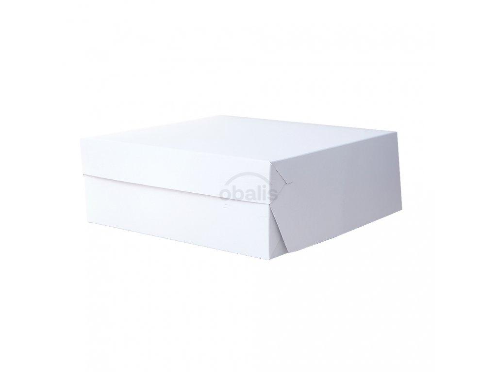 Dortová krabice bílá 27 x 27 x 10 cm