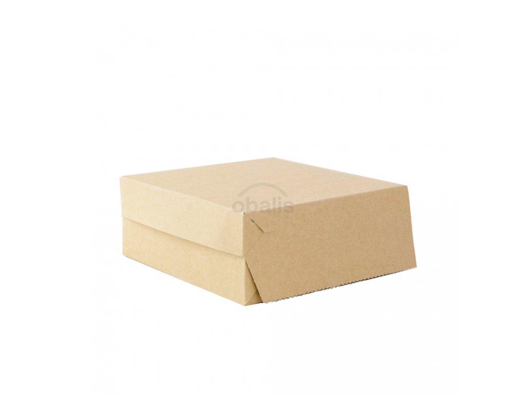 Dortova krabice kraft 22x22x9 obalis
