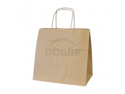 Papírová taška hnědá s krouceným uchem 28x17x27 cm