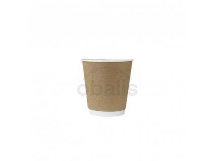 Papírový kelímek na teplé nápoje hnědý 120 ml ø 6.2 cm