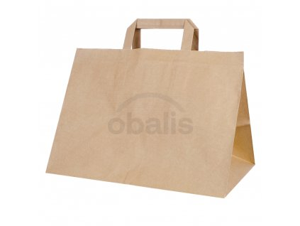 Papírová taška kraft 32x22x24 cm pro gastro obaly