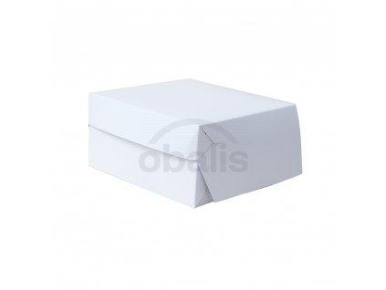 Dortová krabice bílá 20 x 20 x 10  cm