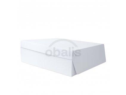 Dortová krabice bílá 32 x 32 x 10 cm