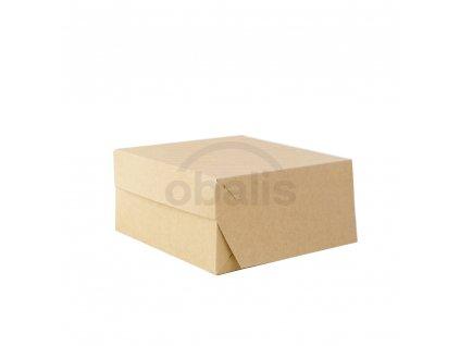 Dortova krabice kraft 20x20x10 detail obalis
