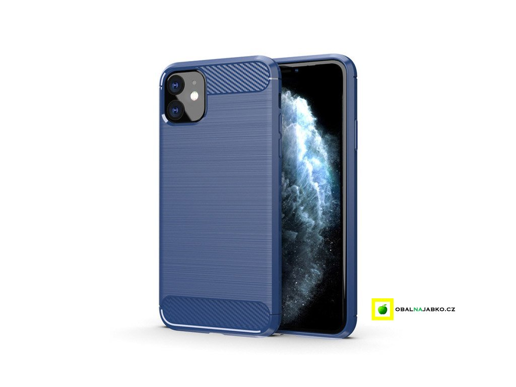 eng pl Carbon Case Flexible Cover TPU Case for iPhone 11 blue 54935 1