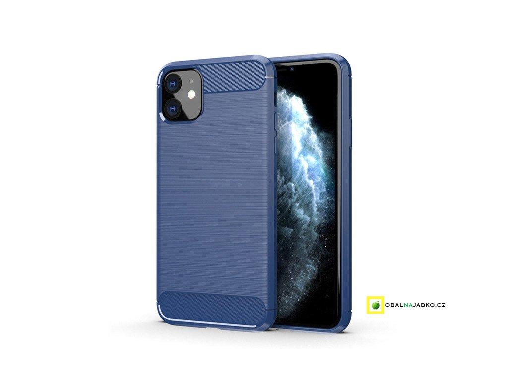 eng pl Carbon Case Flexible Cover TPU Case for iPhone 11 blue 54935 1