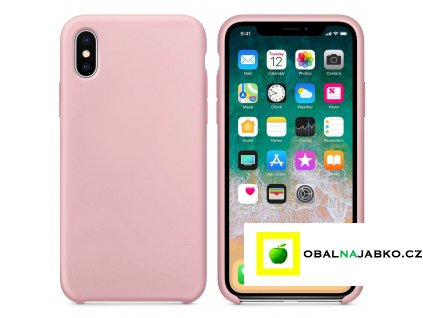 eng pl Silicone Case Soft Flexible Rubber Cover for iPhone XS X pink 40740 2