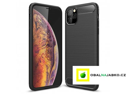 eng pl Carbon Case Flexible Cover TPU Case for iPhone 11 black 52071 1