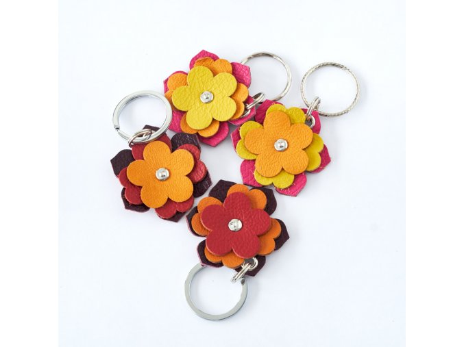 Kozena klicenka kvetina barevna