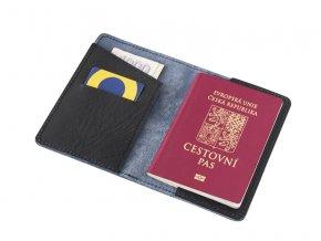 Kozene pouzdro na pas letenku kartu a bankovky D50 2