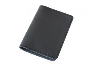 Kozene pouzdro na pas letenku kartu a bankovky D51 1