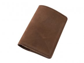 Kozene pouzdro na pas letenku kartu a bankovky D54 1