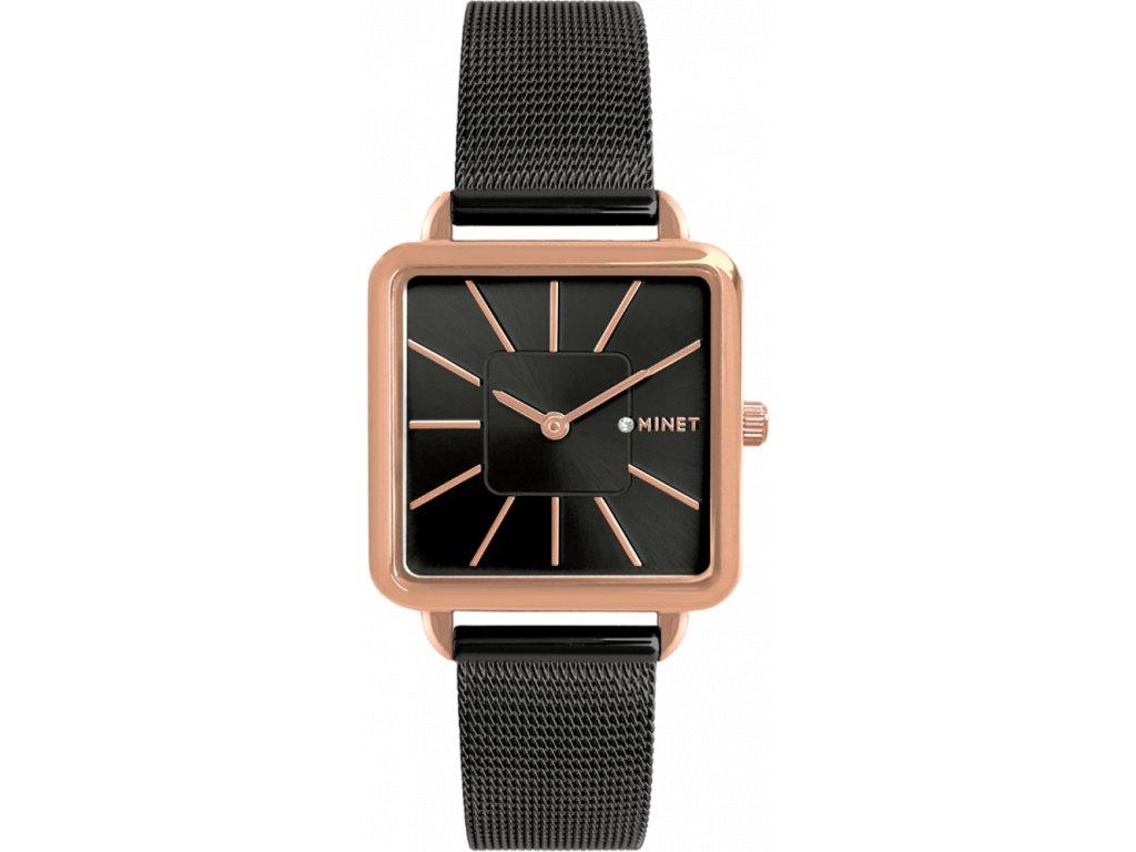 Černé dámské hodinky MINET OXFORD DRAMA QUEEN