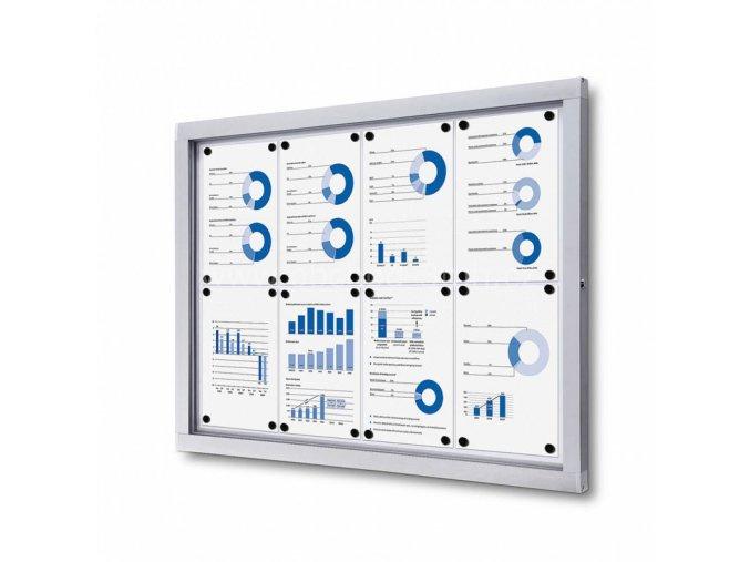Informační vitrína 8xA4, plechová záda