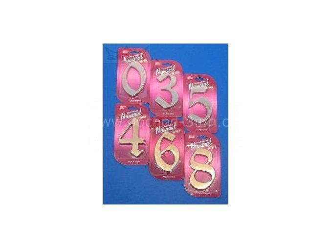"""Číslice fasádní """"5"""" NB 125mm Bronz"""