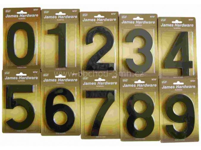 """ČÍSLO DOMOVNÍ """"4"""" 152 MM, FASÁDNÍ, ČERNÁ-MAT"""