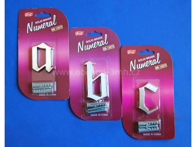 """Písmeno """"a"""" fasádní NB 62mm Ni-broušený"""