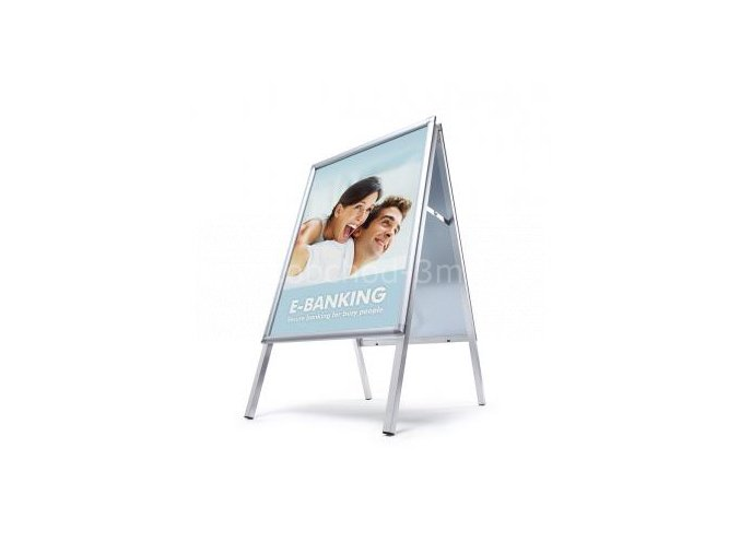 Reklamní áčko A1, oblý roh, profil 30mm, metalová záda