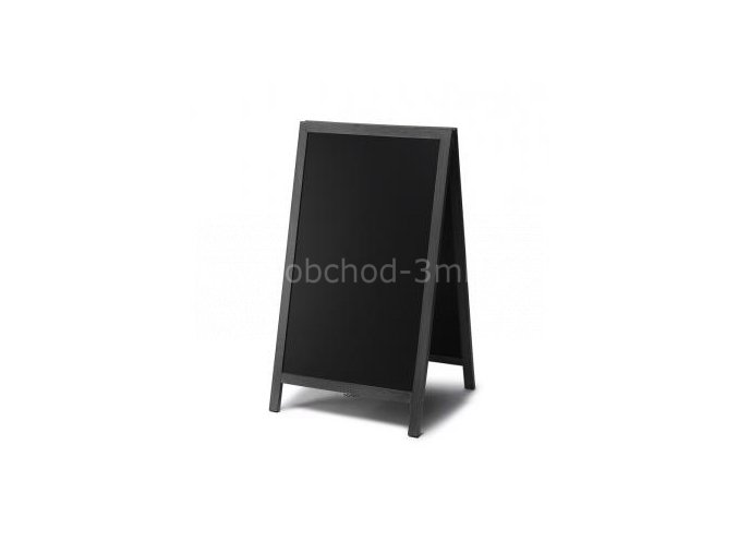 Reklamní áčko s křídovou tabulí 68x120, černá