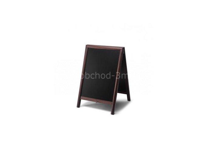 Dřevěné áčko s křídovou tabulí 55x85, tmavě hnědá