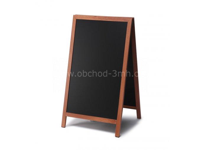 Reklamní áčko s křídovou tabulí 68x120, světle hnědá