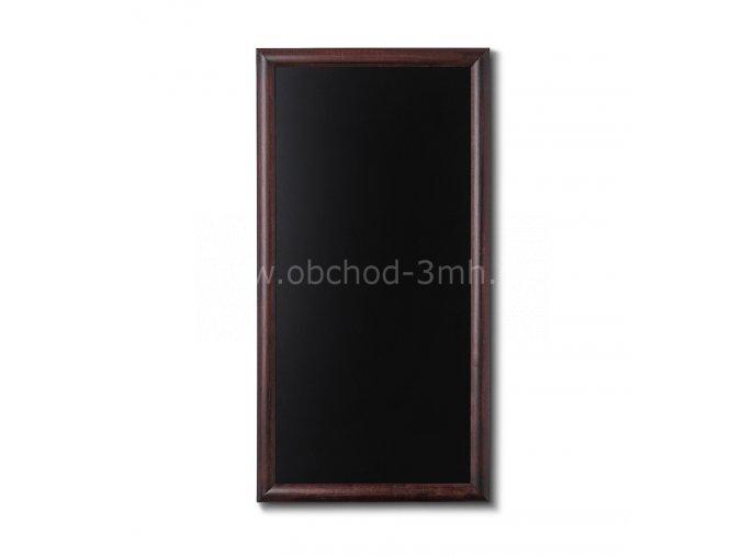 Dřevěná tabule 56x100, tmavě hnědá