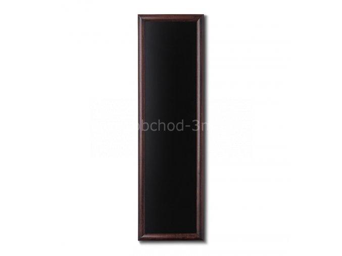 Dřevěná tabule 40x120, tmavě hnědá