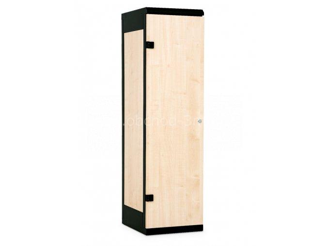 Šatní skříňka 1-dveřová, 1750 x 420 x 500 mm - lamino/kov