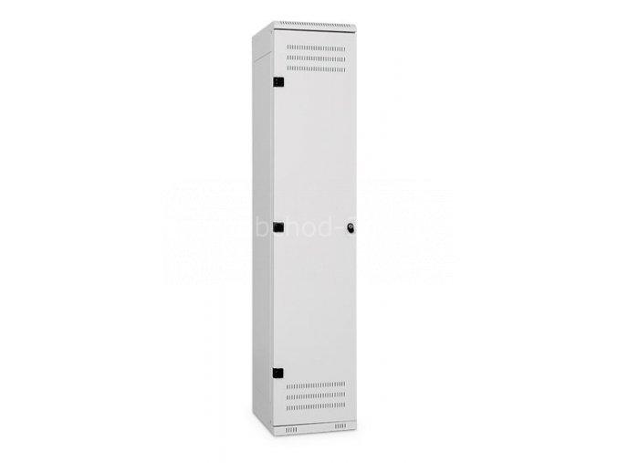 Šatní skříňka 1-dveřová, 1525 x 420 x 500 mm - kovová