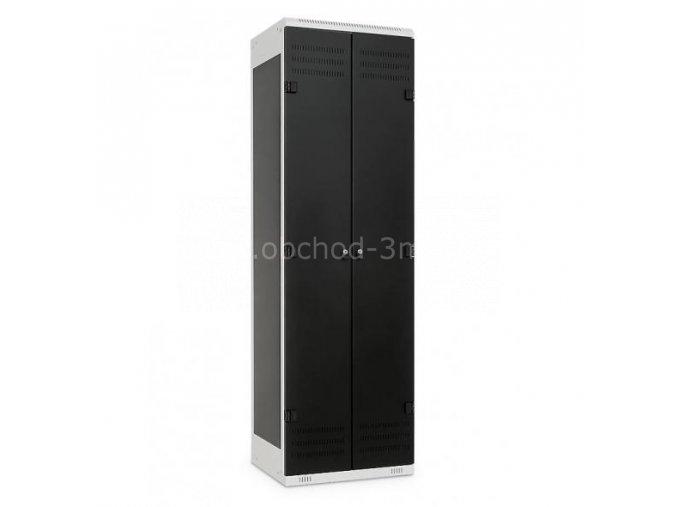 Šatní skříňka 2-dveřová, 1525 x 600 x 500 mm - kovová