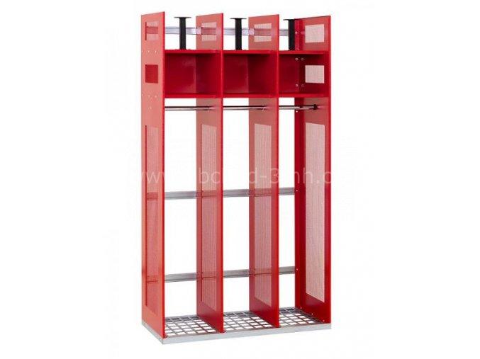 Skříň pro hasiče IPS, 1780 x 1000 x 500 mm - kovová