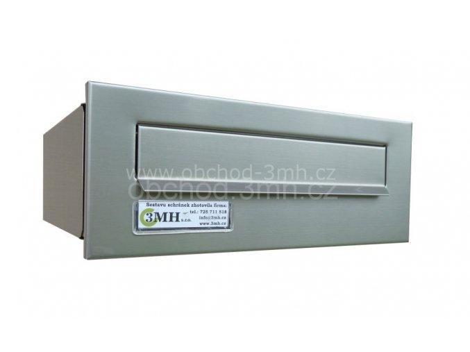 Poštovní schránka rovná k zazdění do sloupku NEREZ