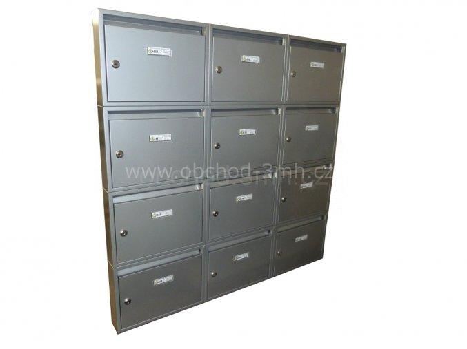 Poštovní schránka PE-01 v sestavě