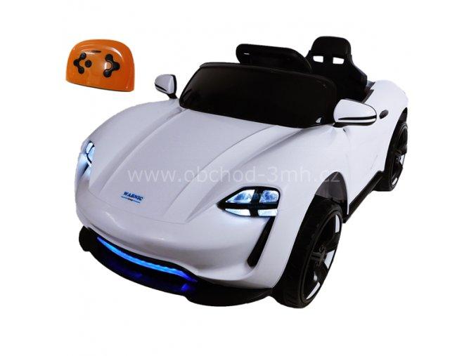Elektrické autíčko bílé, sportovní cabrio