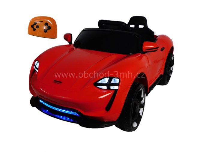 Elektrické autíčko červené, sportovní cabrio