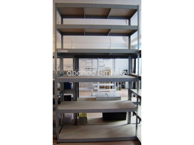 Kovový regál ORDRACK 2700x1600x600 mm, 6 polic, pozink