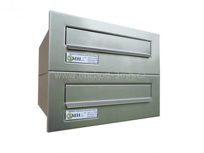 Poštovní schránka rovná k zazdění do sloupku NEREZ 2x