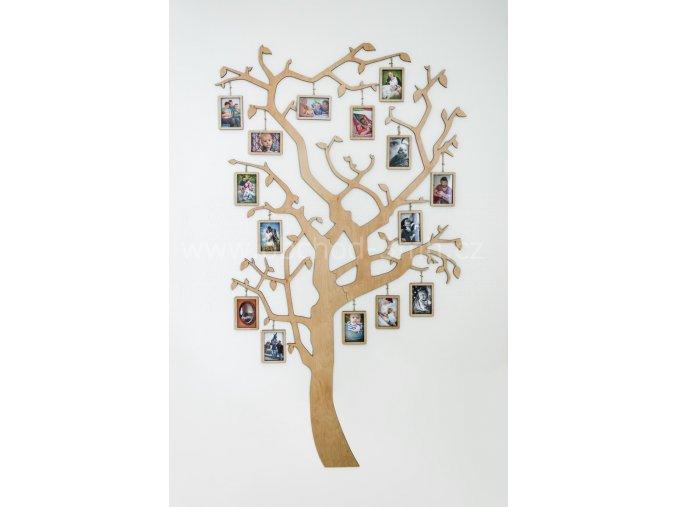 Fotorámeček - Dřevěný strom s rámečky na zavěšení